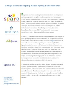An Analysis of State Laws Regarding Mandated Reporting of Child Maltreatment_Page_1