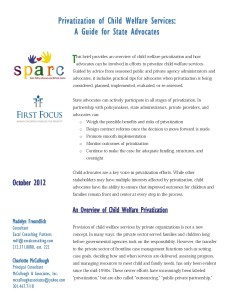 Privatization of Child Welfare Services - A Guide for State Advocates_Page_01