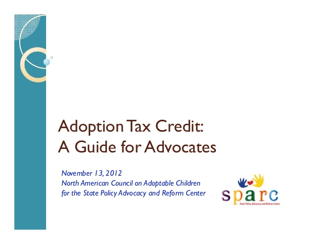 Webinar: Adoption Tax Credit: A Guide for Advocates