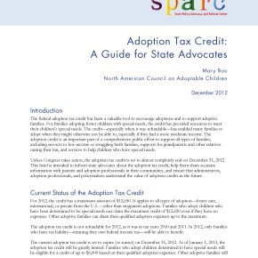Brief: Adoption Tax Credit: A Guide for State Advocates