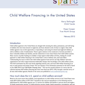 Brief: Child Welfare Financing in the United States