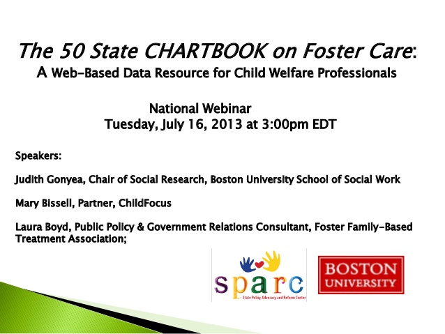 Webinar: The 50 State CHARTBOOK on Foster Care