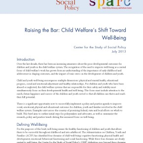 Brief: Raising the Bar: Child Welfare's Shift Towards Well-Being
