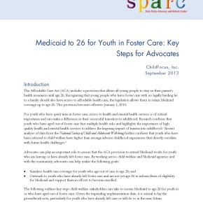 Brief: Medicaid to 26 for Youth in Foster Care