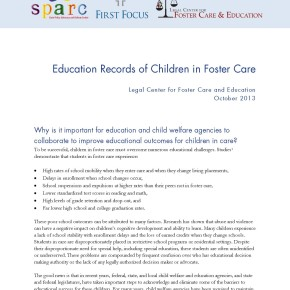 Brief: Education Records of Children in Foster Care