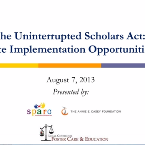 Webinar: Improving Education Outcomes for Youth in Care