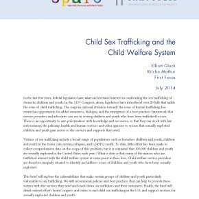 Brief: Sex Trafficking and the Child Welfare System