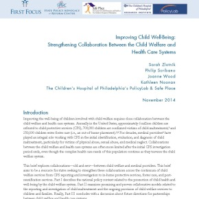 Improving Child Well-Being: Strengthening Collaboration Between the Child Welfare and Health Care Systems