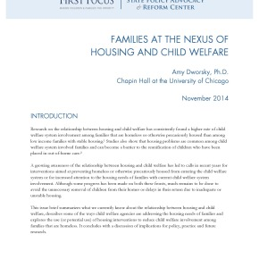 Brief: Families at the Nexus of Housing and Child Welfare